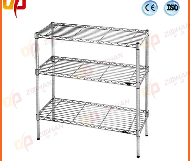 Metal Wire Storage Rack Home Office Display Stand Shelves Zhw171