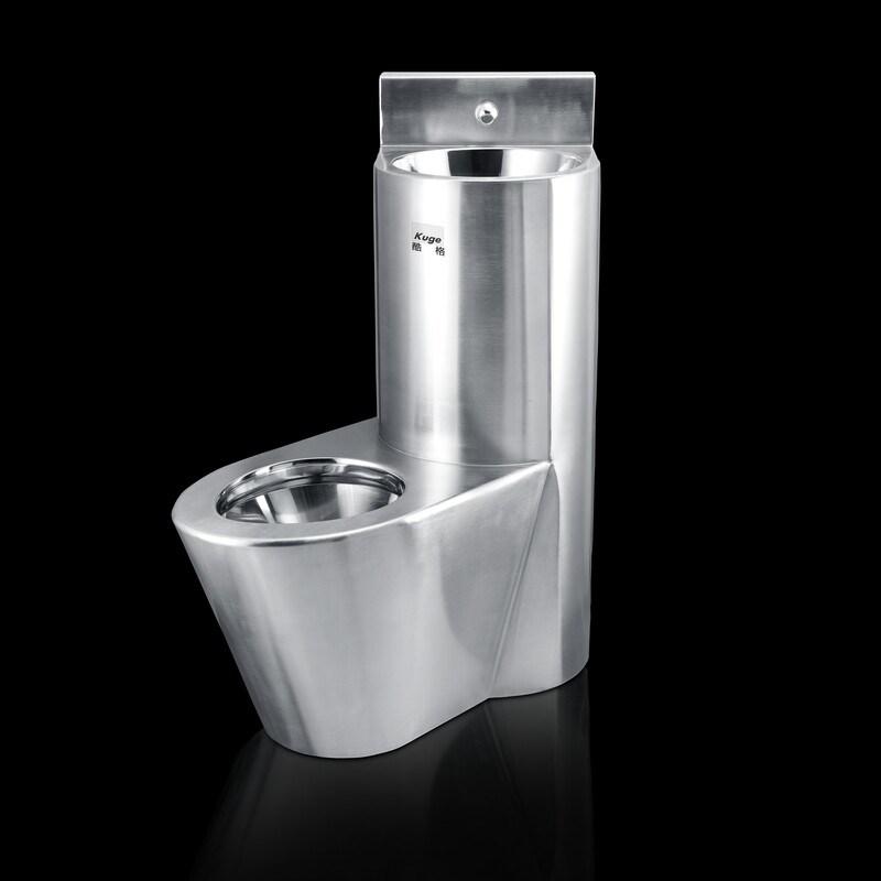 hot item stainless steel combination prison toilet vandal resistant pedestal toilet sink combo