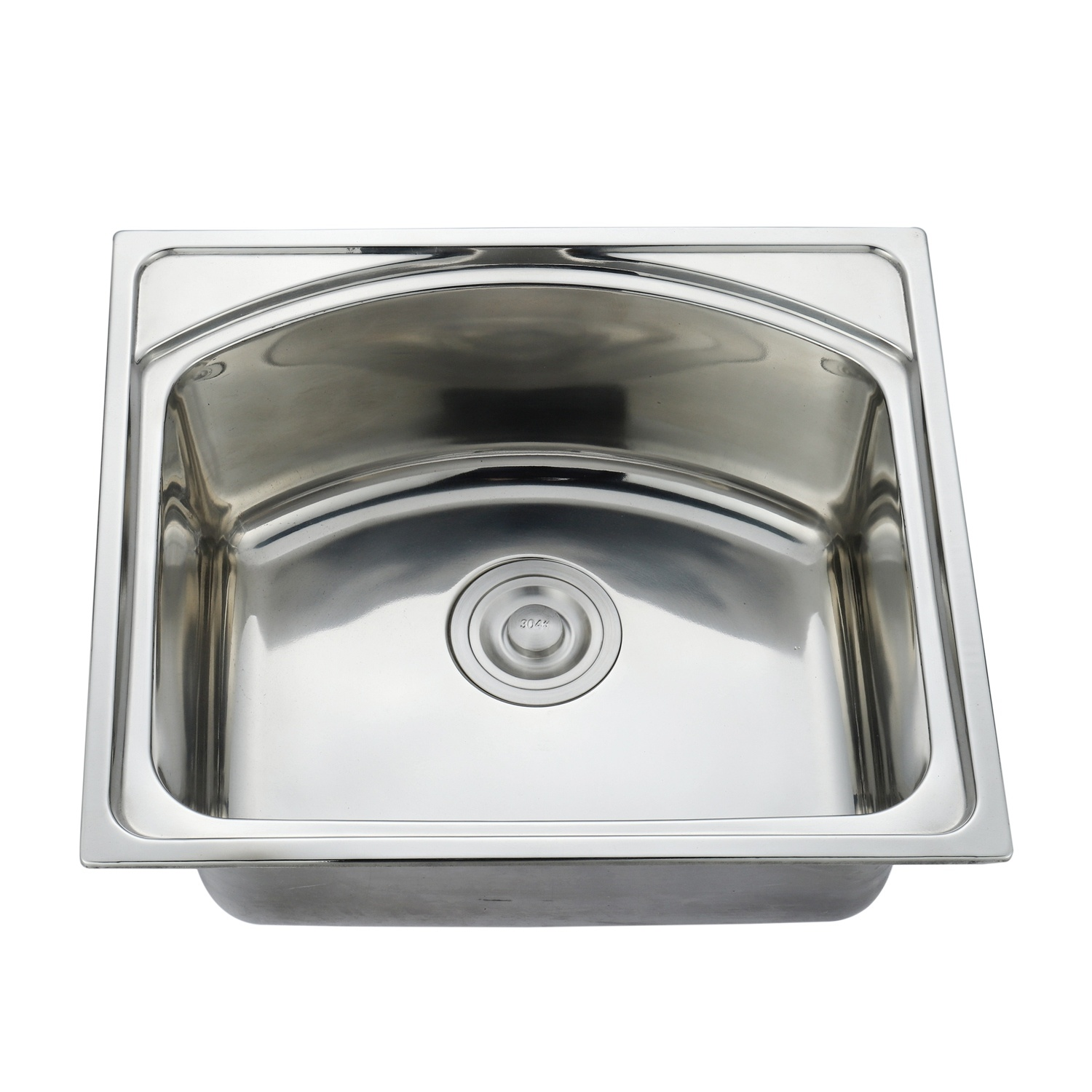 china stainless steel sink single bowl