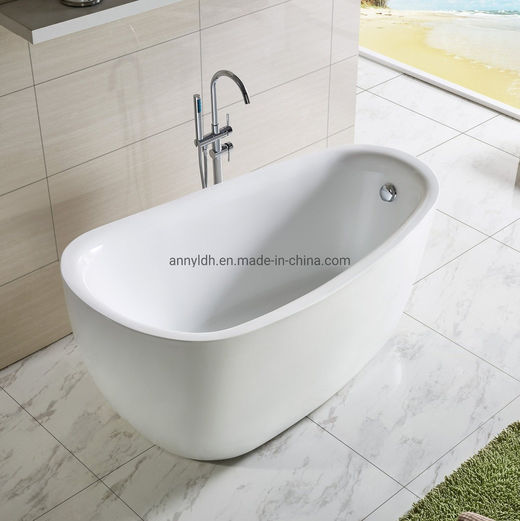 Hot Item Woma Deep Soaking Tub Freestanding Bathtub With Cupc Certificate Q168