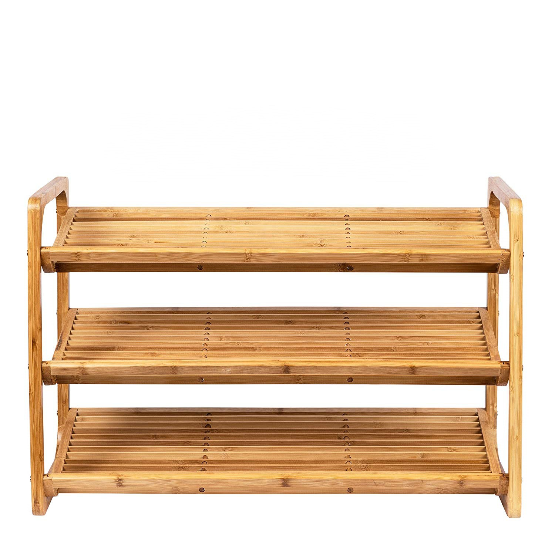 hot item natural three tier bamboo shoe rack bamboo display rack