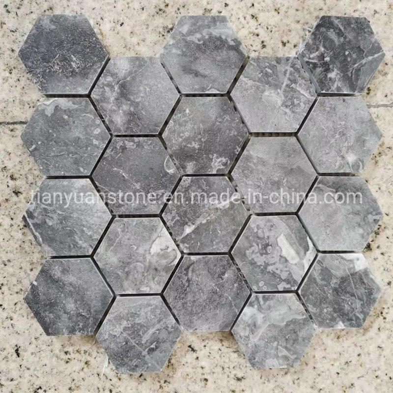 china grey marble hexagon mosaic tiles