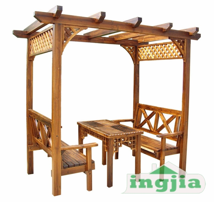 china leisure solid wood patio garden