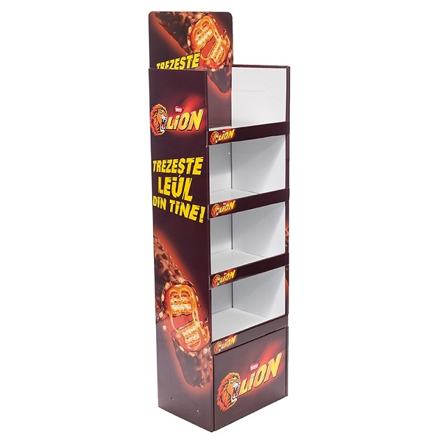 hot item retail store paper potato chip display stand cardboard potato chip display rack cardboard display for energy drink