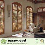 Hot Item Adjustable Removable Wood Blinds Cheap Wood Plantation Shutter Window Shutter