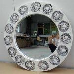 Hot Item Loops Art Round Modern Decorative Wall Mirror Lh M17012