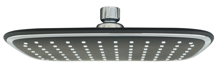 Hot Item 1 Function 255 190 Square Black Shower Head Rain Shower Top Shower