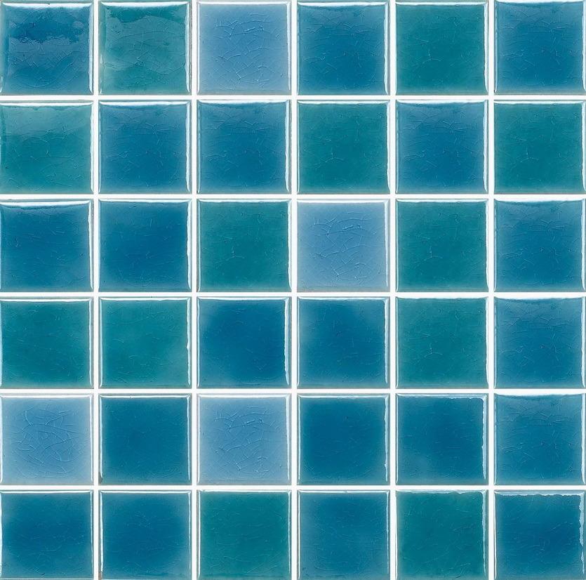 hot item thickness 6mm blue color bathroom swimming pool ceramic mosaic tile c648009