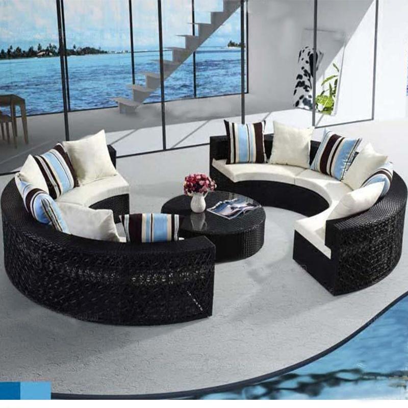 china circular outdoor sofa garden sofa
