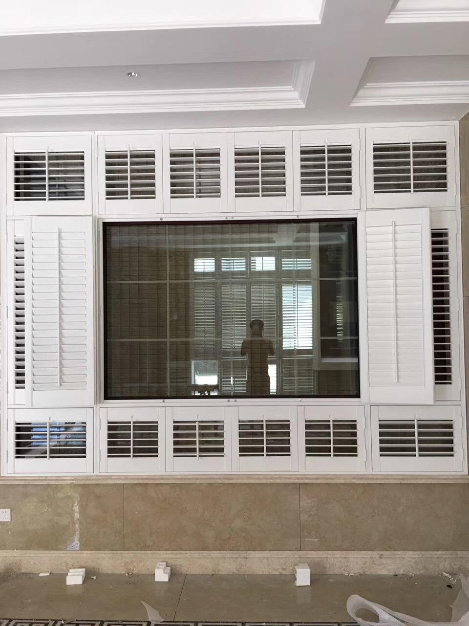 China Shades Removable Folding White Wood Windows Interior