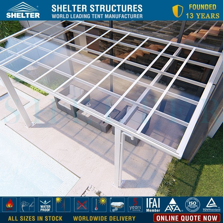 hot item lean to flat top design aluminum frame patio cover porch cover cheap price for sale