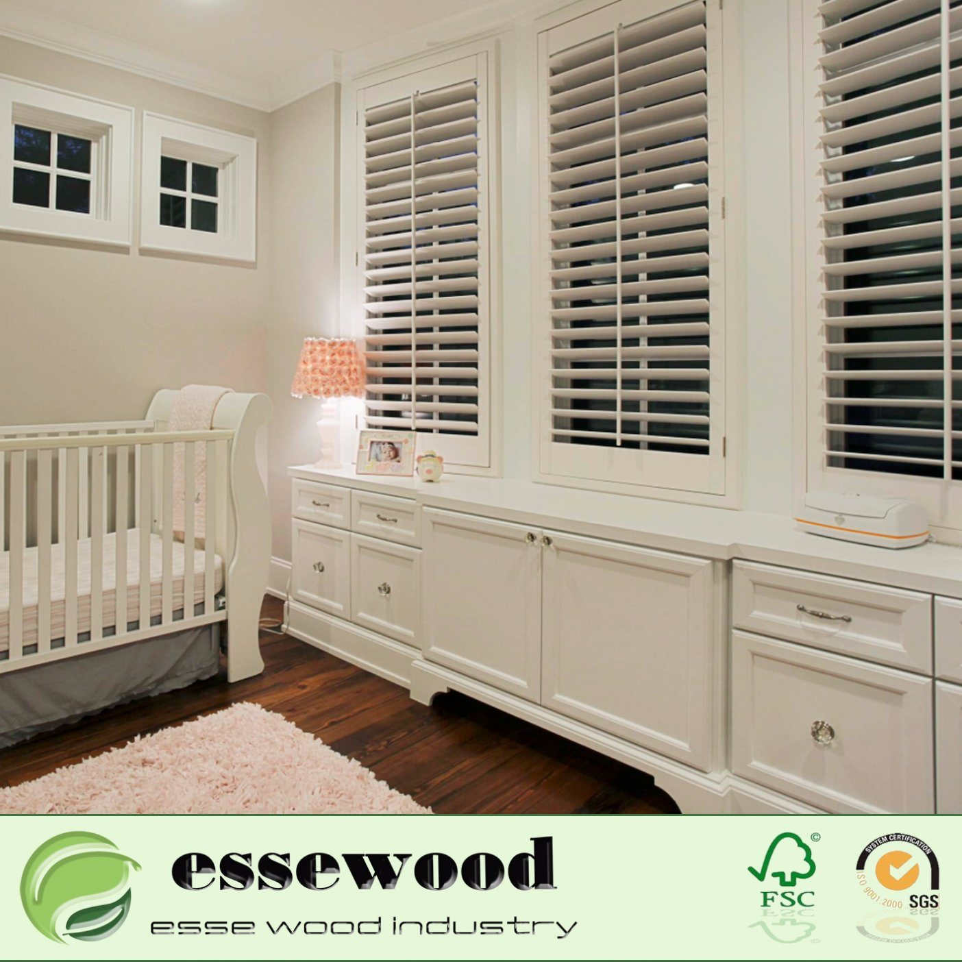 Hot Item White Faux Wood Reasonable Price And High Quality Of Plantation Shutter With Custom Style