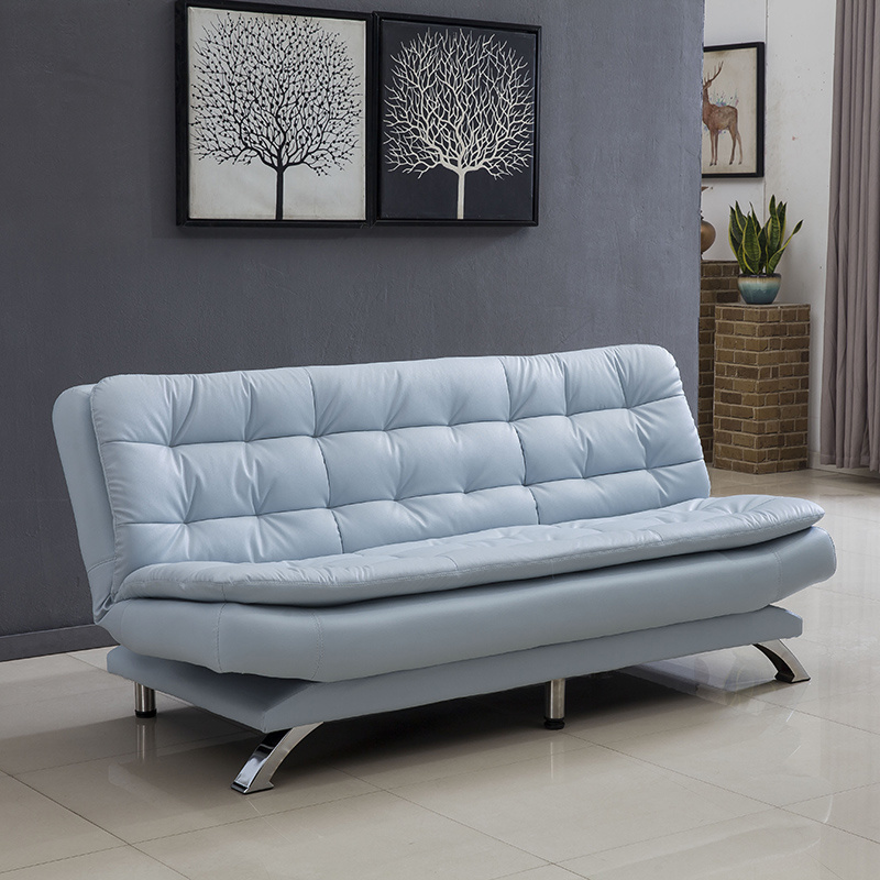 hot item leather sofa small family sitting room multi functional dual purpose single folding two person office simple three person sofa