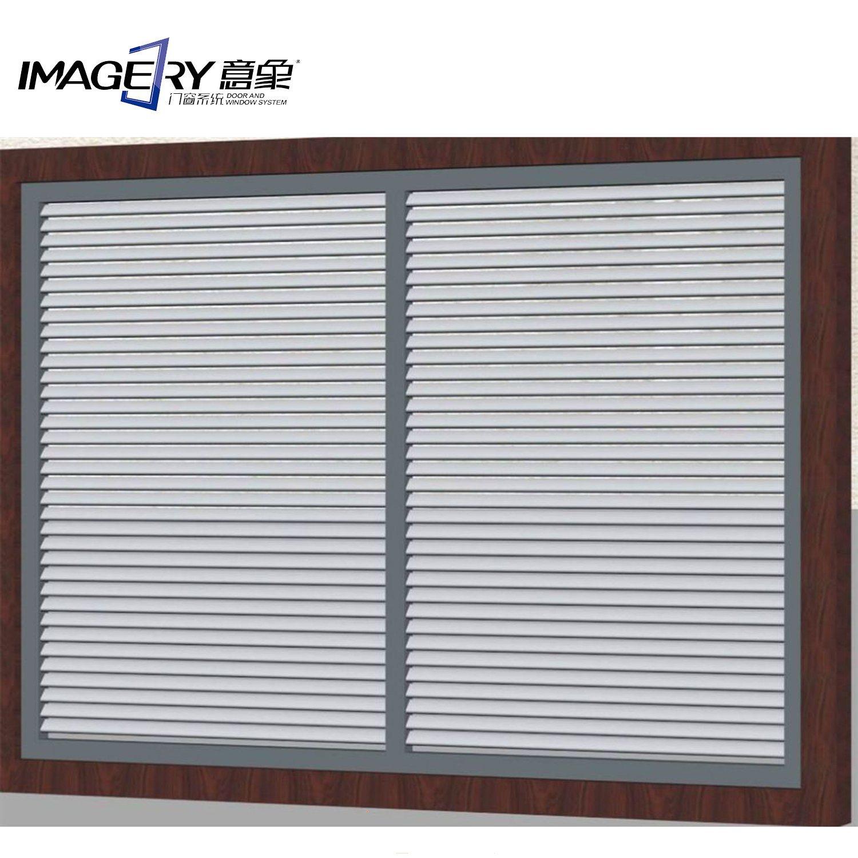 Hot Item Customized Window Sun Ventilation Aluminum Metal Shutter Louver For Exterior Decorative