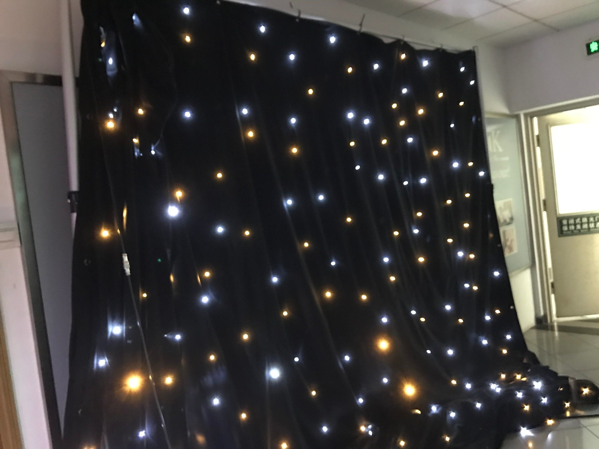 china led warm white lights curtain for