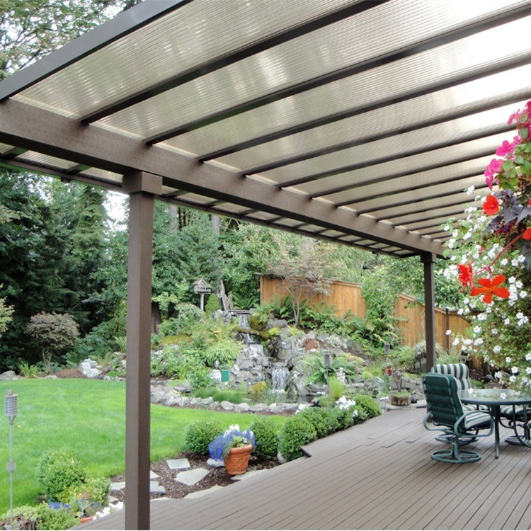 hot item lexan polycarbonate pergola roof panels thickness design
