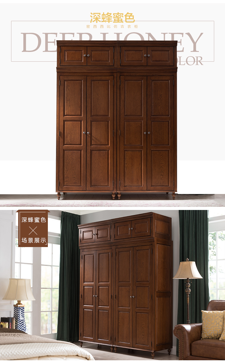 Modern Wardrobe With Wooden Cabinet Bookcase Shelf Cupboard For Bedroom