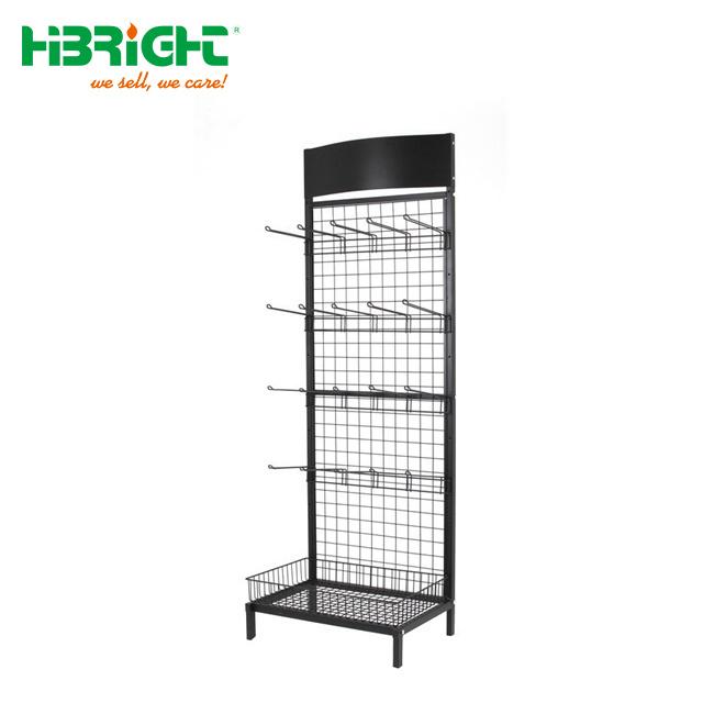 metal display rack with hooks tool rack