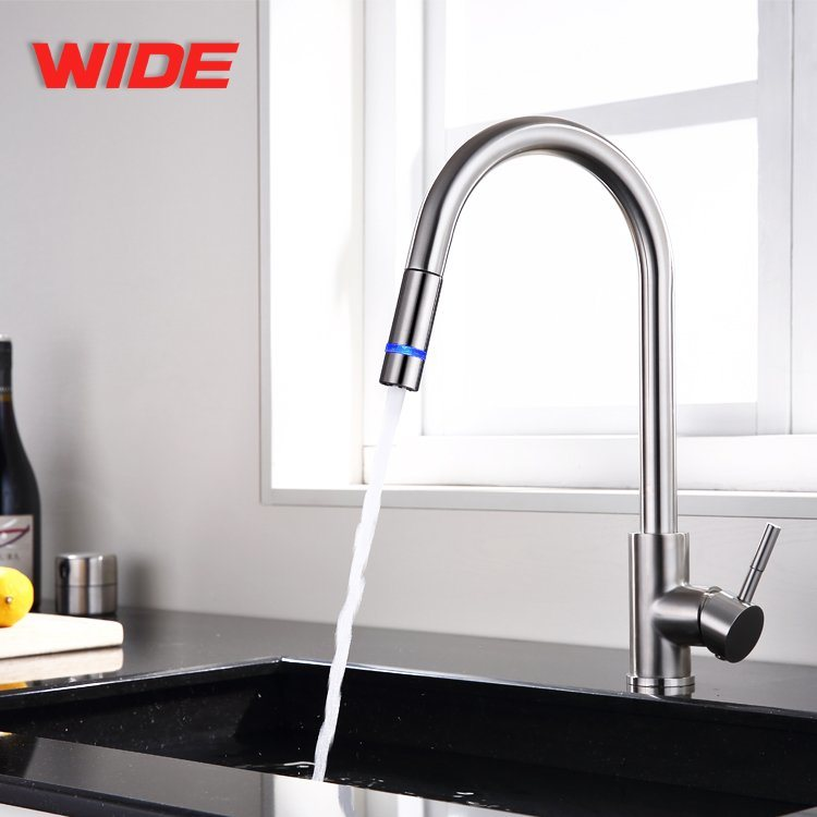 china colorful led water kitchen faucet