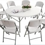 China 6ft 183cm High Quality Plastic Folding Round Dining Table China Outdoor Table Round Table