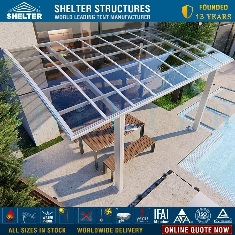 hot item cheap polycarbonate roof porch cover aluminum frame patio furniture rain covers car shelter