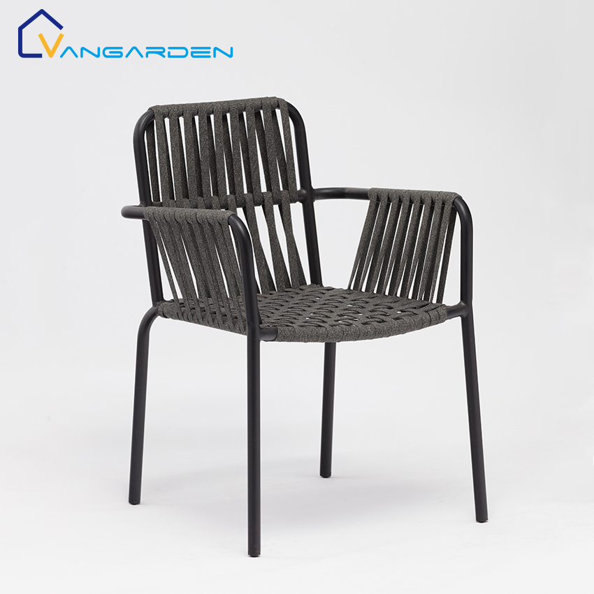 hot item fashionable woven rope stackable patio chairs outdoor furniture