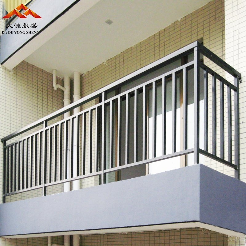 China Powder Coated Aluminum Wrought Iron Galvanzied | Powder Coated Handrails For Stairs | Ornamental Iron | Metal | Deck Railing | Wrought Iron Balusters | Balcony