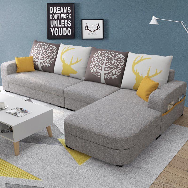 hot item new design l shaped sectional sofa luxury furniture set living room white leather corner sofa 0007
