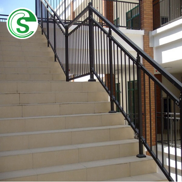 China Elegant Home Stair Railing Design Wrought Iron Balcony Grill | Tubular Stair Railings Design | Simple | Grill Work | Residential Industrial Stair | Welded | Stair Case Railing