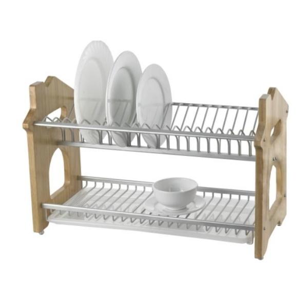 china 2 tiers kitchen dish rack wall