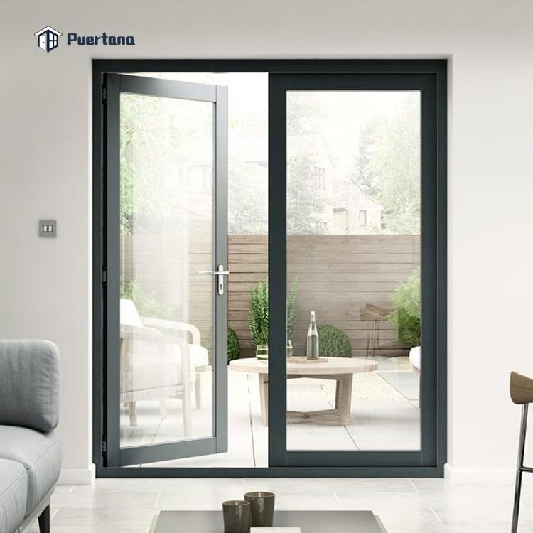 hot item external aluminium casement hinged patio doors glazed front door french door
