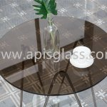 China Dining Coffee Table Top Glossy White Tempered Glass With Bright Polishing Edge China Table Covers Side Table Glass