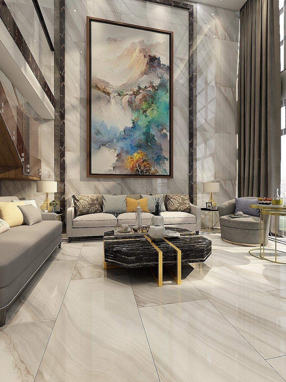 hot item 600x1200 inkjet printing glazed rectified polished marble floor tile jm1263511f