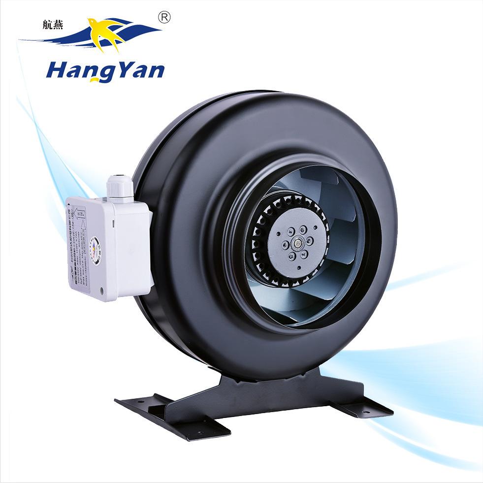 hot item 200 mm hydroponics centrifugal exhaust fan blower circular inline duct fan fresh air exchange fan with black casing
