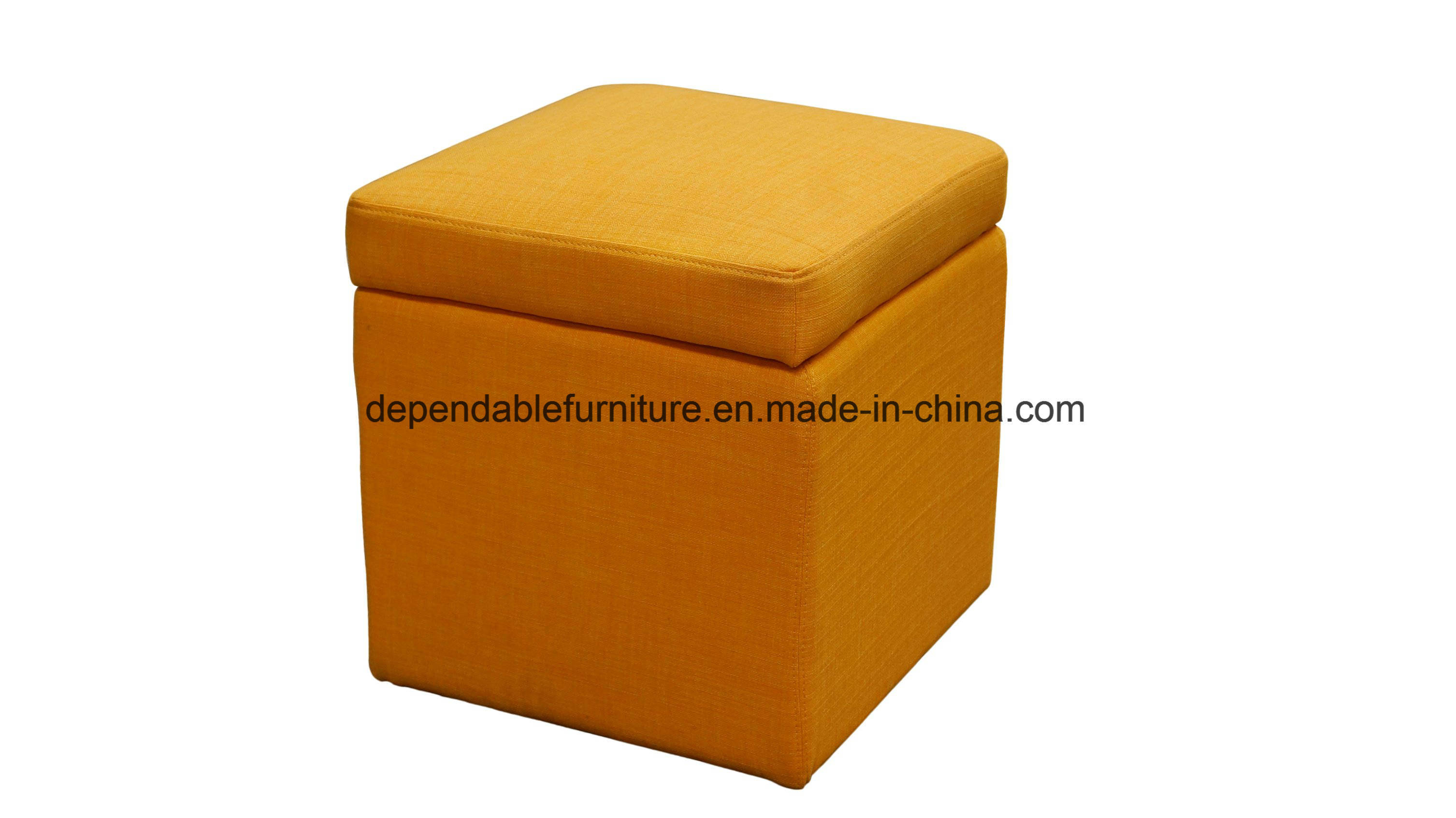 Hot Item Living Room Upholstered With Storage Cube Ottoman Stool
