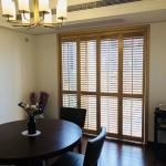 Hot Item 2018 White Horizontal Louver Indoor Solid Window Plantation Shutters