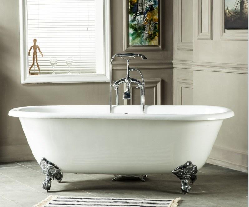 hot item freestanding cast iron bathtub enameled cast iron bath manufacturer