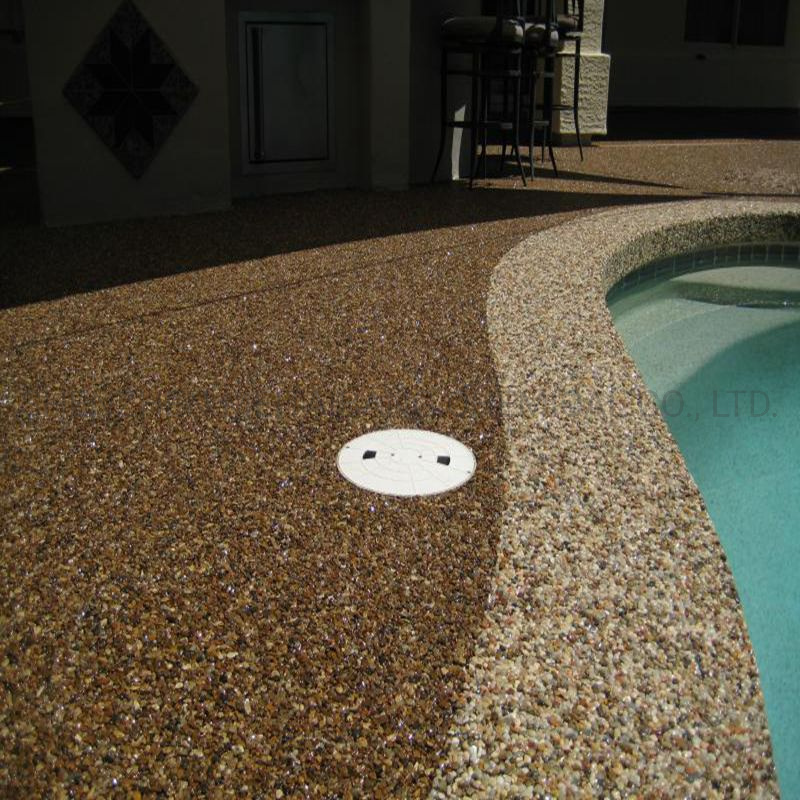 hot item epoxy pebblestone pool deck concrete coatings
