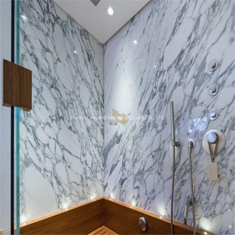 China Grey White Natural Marble Stone Slabs For Bathroom Tiles Backsplash Flooring Wall Countertops China Grey Marble White Marble Stone