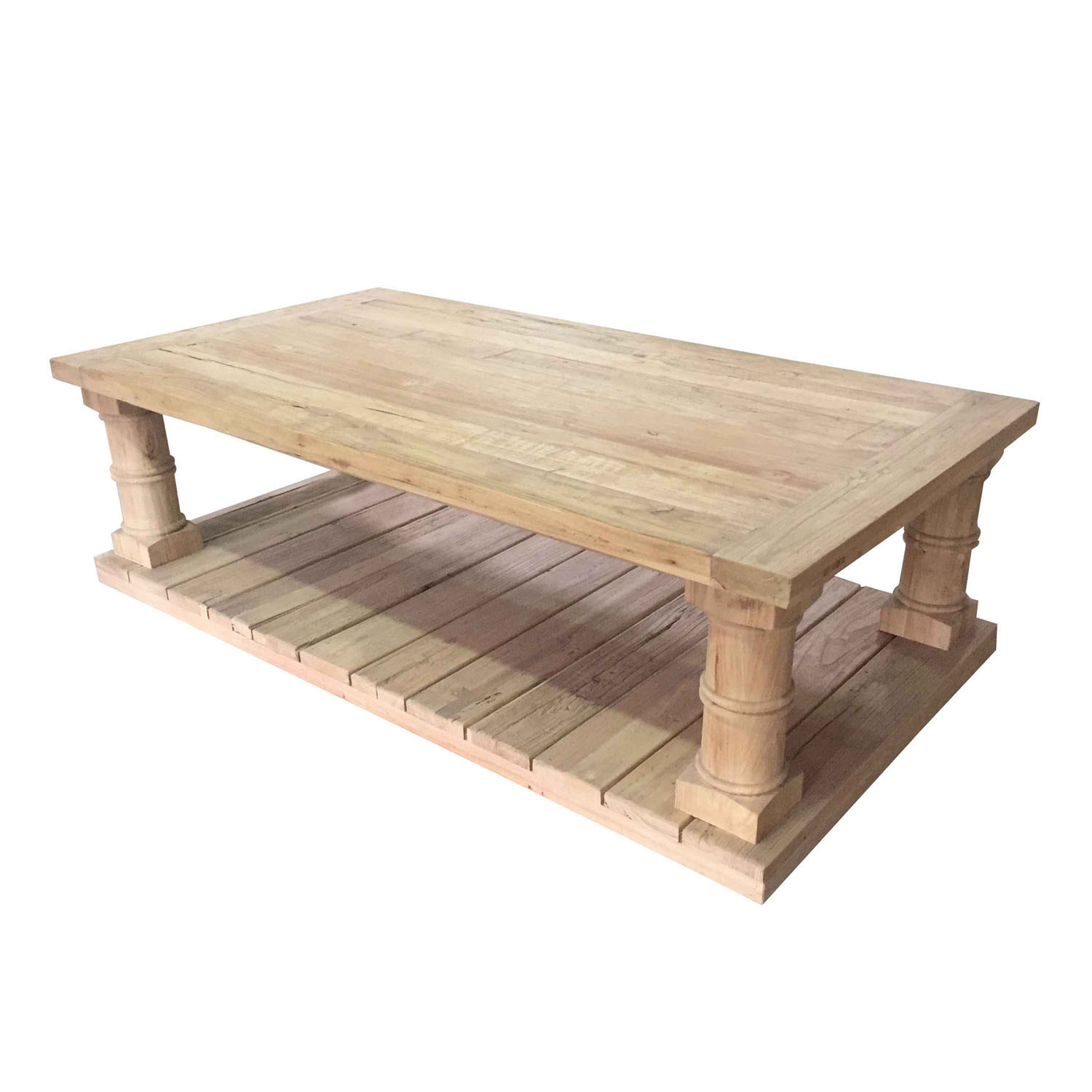 large elm wooden coffee table design