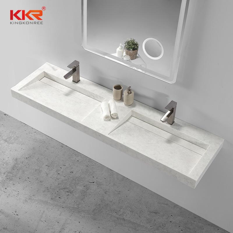 hot item custom double sink solid surface bathroom vanity top