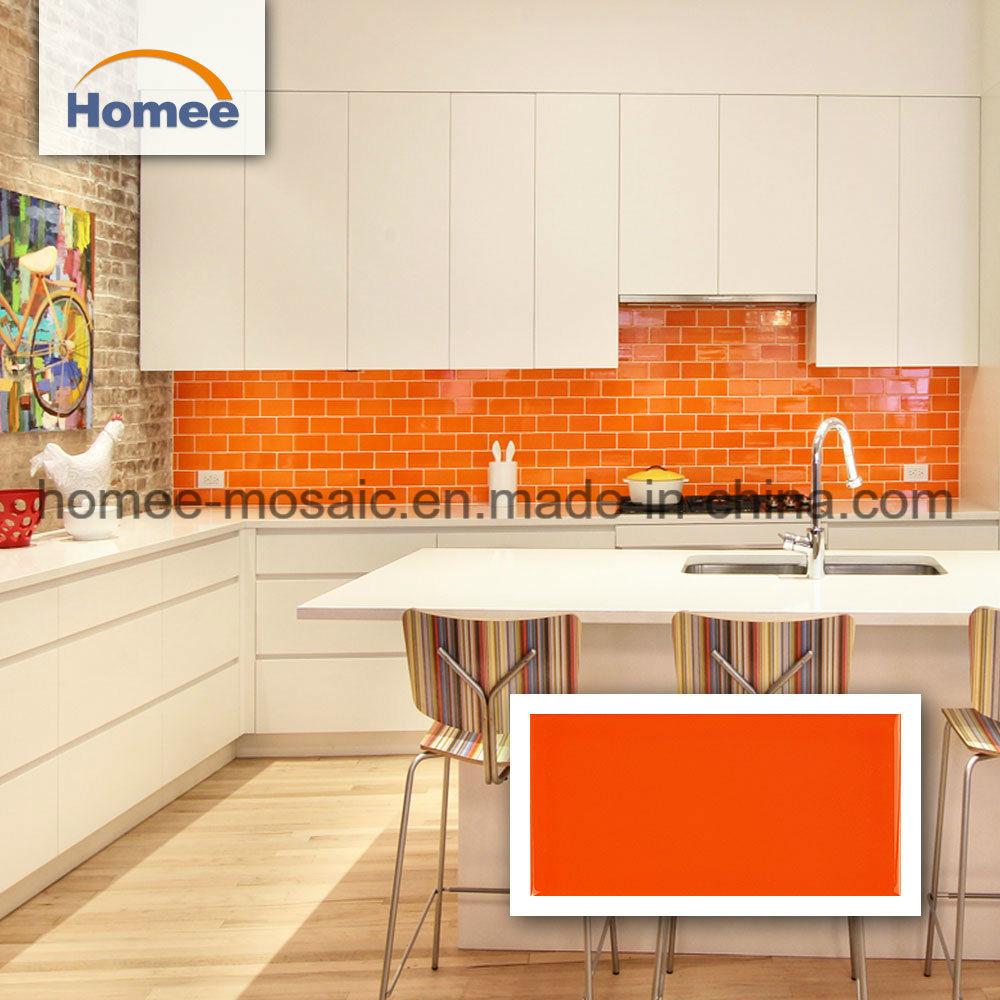 china orange brick pattern mosaic tile