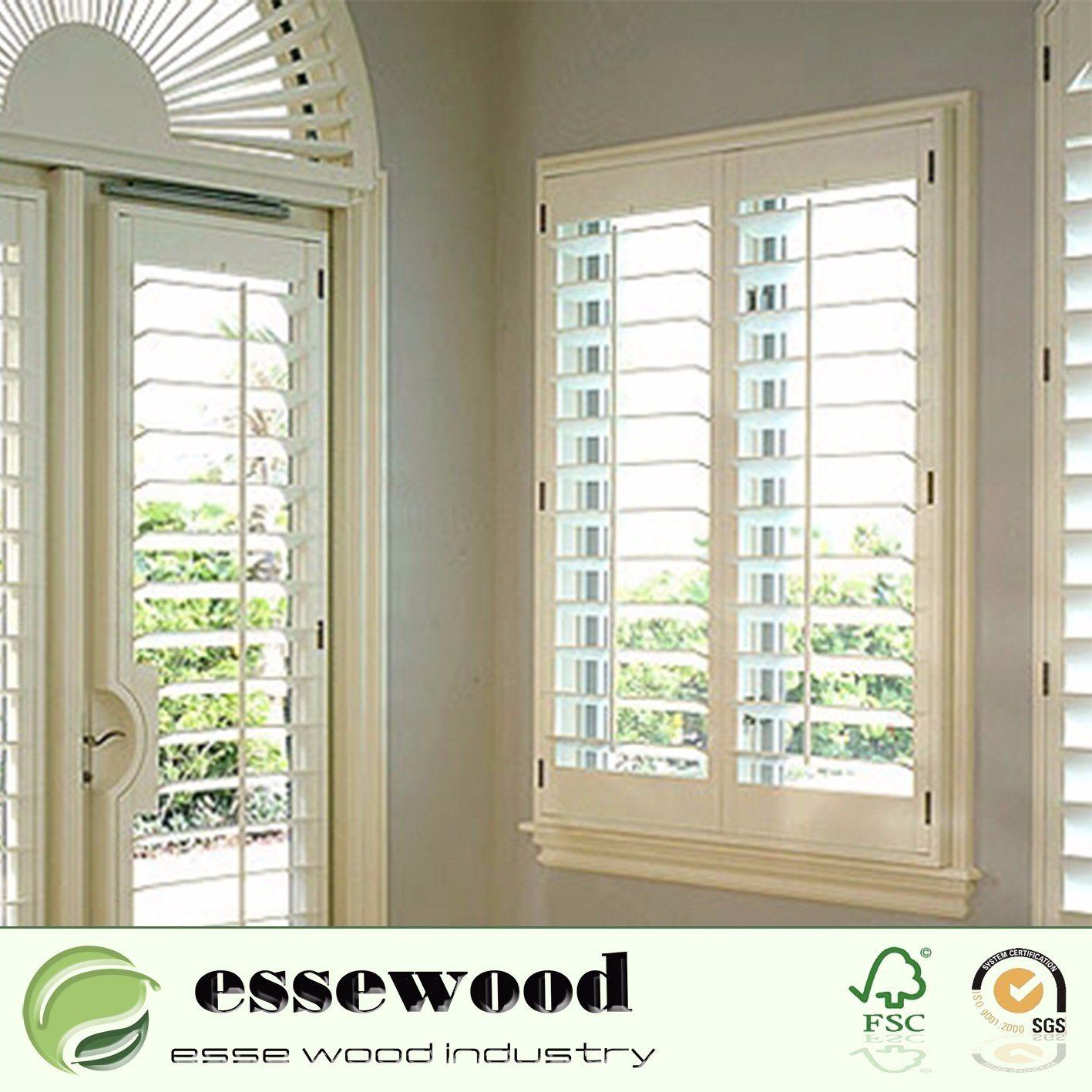 Hot Item Painted Color Sliding Wood Or Pvc Plantation Shutters Sliding Doors For House Decoration