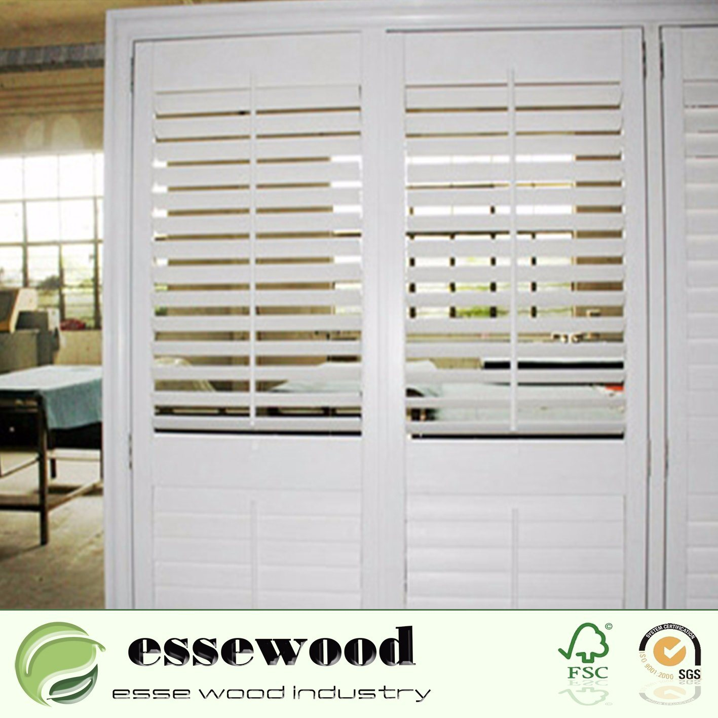China White Pvc Or Wood Plantation Shutters On Doors For