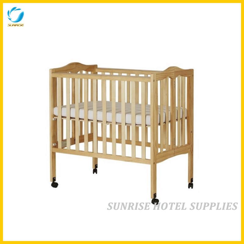 china hotel safety wooden folding baby