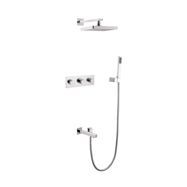 Hot Item Bathroom Black Tub Hardware 3 Handle Shower Set Faucet Oil Rubbed Bronze Brushed Nickel