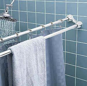 double shower curtain rod hm 2120