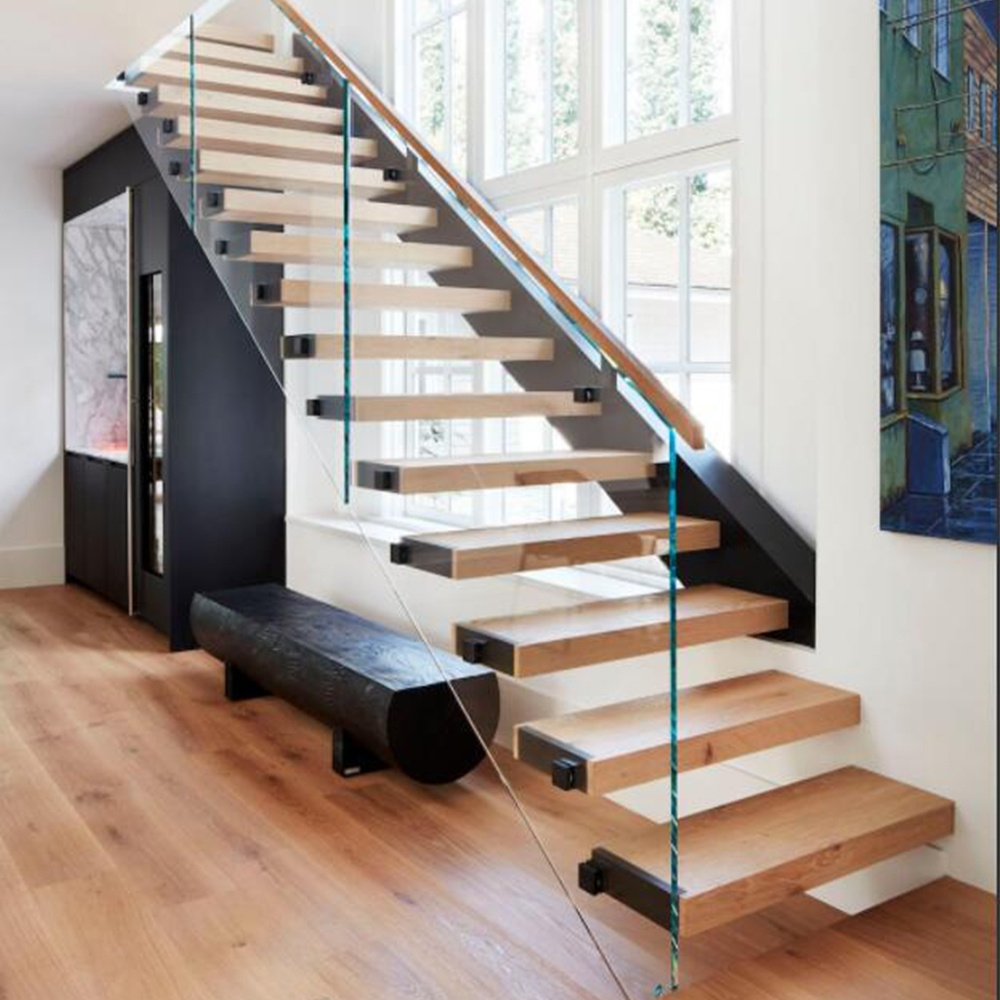 China Glass Balustrade Straight Floating Stairs China Straight | Floating Stairs With Glass Railing | Wall | Commercial | Glass Staircase | Thin Glass | Modern