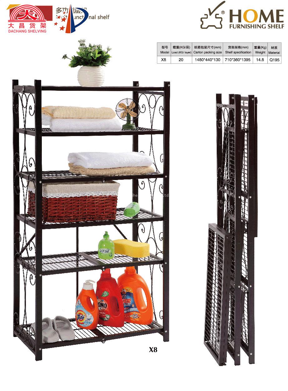 china folding wire shelf household wire