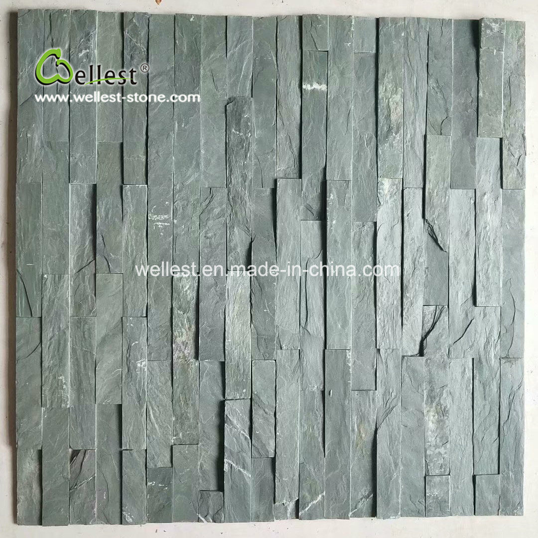 china split face green slate quartzite